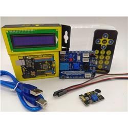 Kit Shield TdR STEAM con Keyestudio UNO, Sensores, Pantalla, Mando Distancia y Cables 01