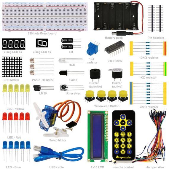 Keyestudio Basic Starter Kit (sin placa Arduino)