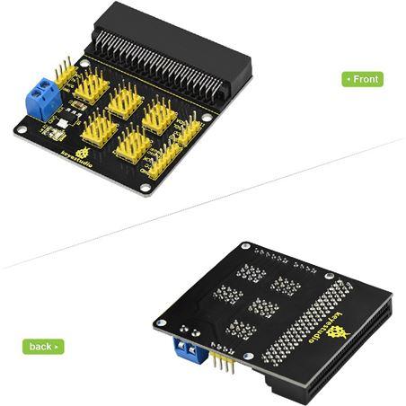 Keyestudio Shield con conexiones de sensores para micro:bit